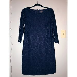 Vince Camuto Navy Lace Party Dress Size 6